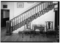 STAIRWAY IN CENTRAL PASSAGE - Gunston Hall, 10709 Gunston Road, Lorton, Fairfax County, VA HABS VA,30-LORT,1-39.tif