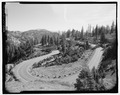SWITCHBACKS NEAR EMERALD LAKE. LOOKING S. - Lassen Park Road, Mineral, Tehama County, CA HAER CA-270-13.tif