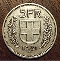 SWITZERLAND 1931 -5 FRANCS a - Flickr - woody1778a.jpg