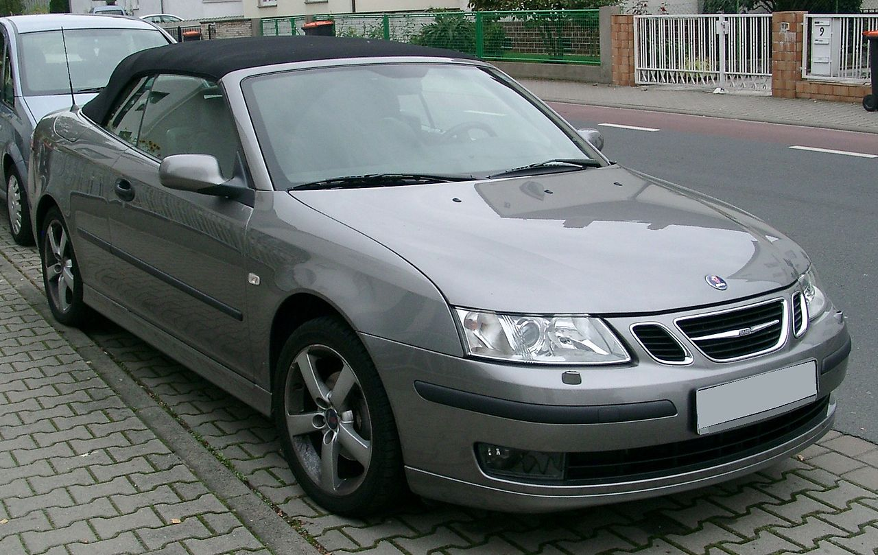 file saab 9 3 cabrio front wikimedia commons. Black Bedroom Furniture Sets. Home Design Ideas