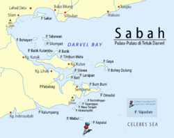 Location of Sipadan Island in Darvel Bay