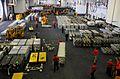 Sailors organize ordnance in the hangar bay. (8390304608).jpg