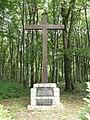 Saint-Remy-la-Calonne (Meuse) croix commémorative Alain Fournier en forêt de Calonne.jpg
