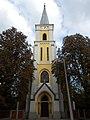 Saint Ladislaus Church facade in Sarbogard, 2016 Hungary.jpg