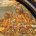 Saint Nicholas Catholic Church (Zanesville, Ohio) - tympanum mosaic, Columbus discovers America, detail - Native Americans.jpg
