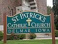Saint Patrick Church sign - Delmar, Iowa.JPG