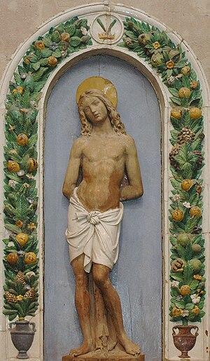 Giovanni della Robbia - Saint Sebastian, Musée du Louvre, Paris.