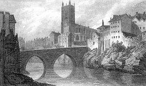 Victoria Bridge, Manchester - Salford Old Bridge, looking northeast