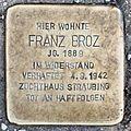 Salzburg - Elisabeth-Vorstadt - Haunspergstraße 27 - Stolperstein Franz Broz.jpg