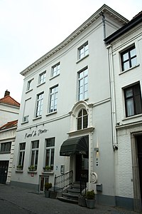 Samenstel diephuizen, Hôtel Charolais - Moerstraat 23 - Brugge - 29490.JPG