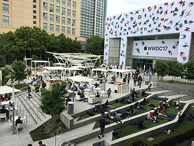 Apple Worldwide Developers Conference 2017 at the San Jose Convention Center. San Jose Convention Center plaza, WWDC17.jpg