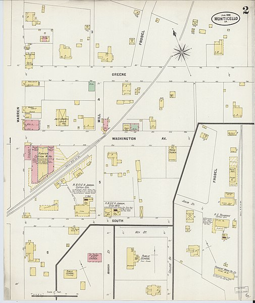 Jasper Georgia Map.File Sanborn Fire Insurance Map From Monticello Jasper County