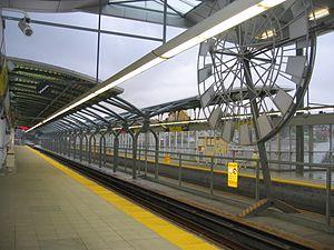 Sapperton station - Image: Sapperton stn platform