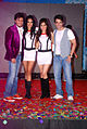 Sarah Jane Dias, Riteish Deshmukh, Tusshar Kapoor, Neha Sharma at the Audio release of 'Kyaa Super Kool Hain Hum' 03.jpg