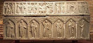 paleochristian sarcophagus (Ra 809 b Ra 501)