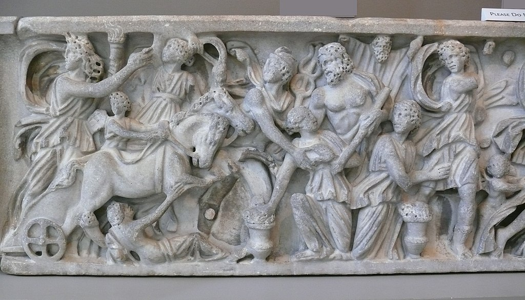 Sarcophagus with the abduction of Persephone by Hades - detail Hades Abducting Persephone
