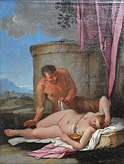 A Sleeping Nymph with a Satyr