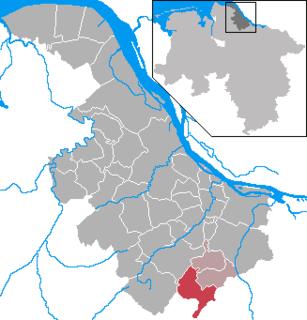Sauensiek Place in Lower Saxony, Germany