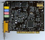 Η κάρτα ήχου Sound_Blaster Sound Blaster Live!, είναι μια τυπική σύγχρονη κάρτα επέκτασης τύπου PCI.