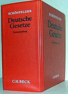 Schönfelder Gesetzessammlung Wikipedia
