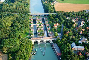 Aerial view of the Anderten lock