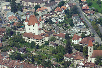 Thun Castle - An aerial view of the castle