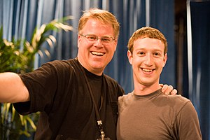 Robert Scoble (left) and Mark Zuckerberg (righ...