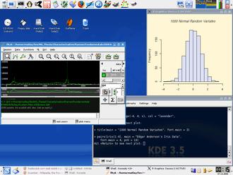 Quantian - Some scientific applications in Quantian