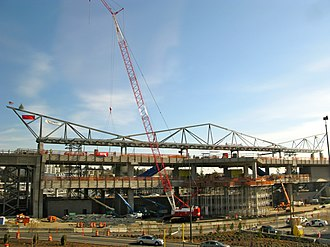 SeaTac/Airport station - SeaTac/Airport station under construction in 2009