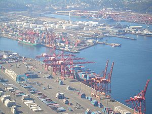 A view of Seattle Container Terminal.