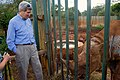 Secretary Kerry Looks at a Blind Rhinoceros at the Sheldrick Elephant Orphanage in Nairobi (17358182445).jpg