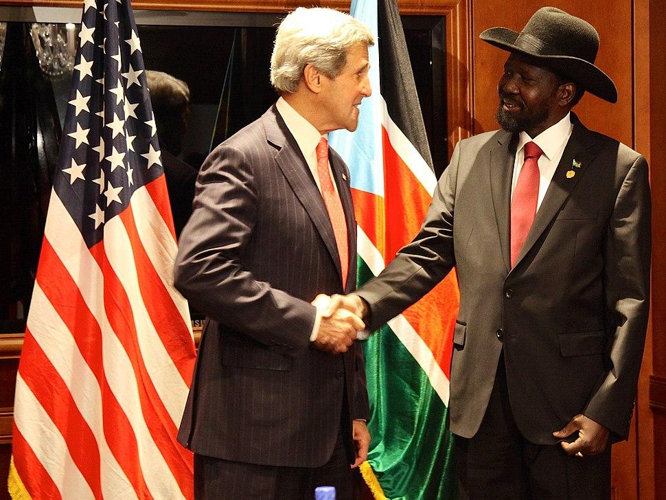 Secretary Kerry Meets With South Sudan President Kiir (3)
