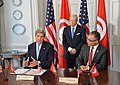 Secretary Kerry Signs MOU With Tunisian Minister for Political Affairs Marzouk (17283596203).jpg