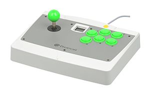Arcade controller - An official controller for the Sega Dreamcast, modeled after arcade cabinet controls.