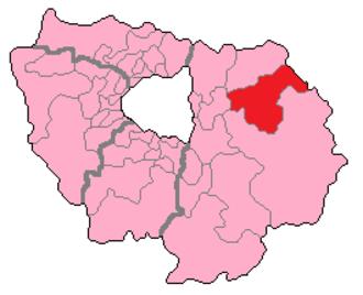 Seine-et-Marne's 5th constituency - Seine-et-Marne's 5th Constituency shown within Île-de-France.