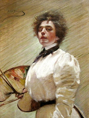 Alice Pike Barney - Self-Portrait with Palette, 1906