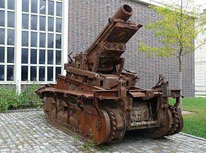 Mortier 280 mm TR de Schneider sur affût-chenilles St Chamond - Bundeswehr Military History Museum Dresden