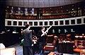 Senators conversing in the Senate chamber during the 1997 Legislative Session.jpg