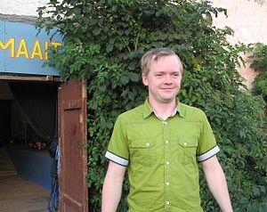 Ott Sepp - Ott Sepp after a theatre performance at the Kuressaare Sadamaait in August 2011.
