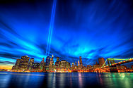 September 11 Tribute in Light at Dusk.jpg