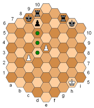 Hexagonal chess - Castling and en passant