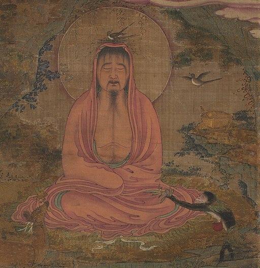 Shakyamuni detail, Clevelandart 1991.9 (cropped)