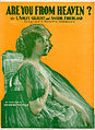 Sheet music cover - ARE YOU FROM HEAVEN? (1917).jpg