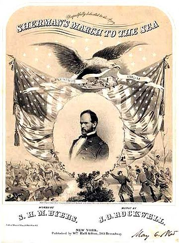 "Sheet music for ""Sherman's March to the Sea"" Sherman's March to the Sea - Project Gutenberg eText 21566.jpg"