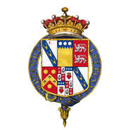Shield of arms of Edward Smith-Stanley, 13th Earl of Derby, KG