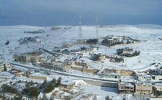 Shoubak - Shoubak is known for its cold winters.