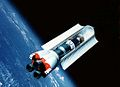 Shuttle-C with open Cargo doors in earth orbit.jpg
