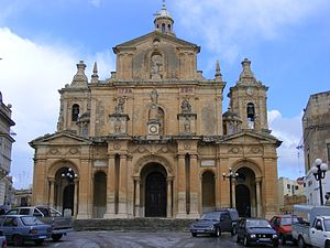 Church of St Nicholas, Siġġiewi - Image: Siġġiewi ,Church of St Nicholas of Bari, Malta Feb 2011 Flickr sludgegulper