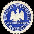 Siegelmarke Königlich Preussisches Generalkommando VIII. Armeekorps W0255321.jpg
