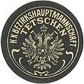Siegelmarke K.K. Bezirkshauptmannschaft Tetschen W0320976.jpg
